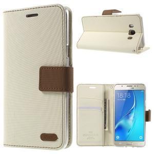 Gentle PU kožené peněženkové pouzdro na Samsung Galaxy J5 (2016) - bílé - 1