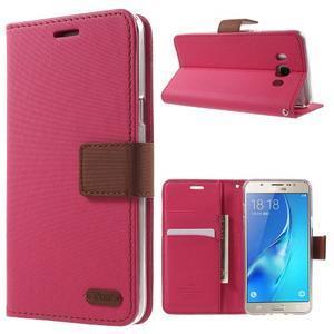 Gentle PU kožené peněženkové pouzdro na Samsung Galaxy J5 (2016) - rose - 1