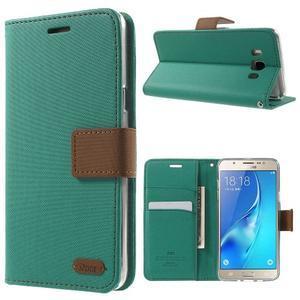 Gentle PU kožené peněženkové pouzdro na Samsung Galaxy J5 (2016) - zelenomodré - 1