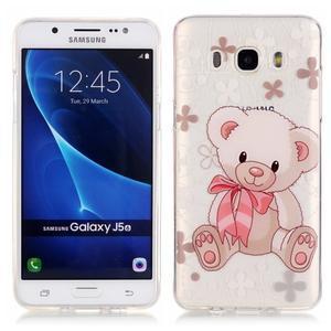 Průhledný obal na mobil Samsung Galaxy J5 (2016) - medvídek - 1