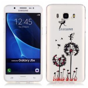 Průhledný obal na mobil Samsung Galaxy J5 (2016) - pampelišky - 1