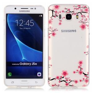 Průhledný obal na mobil Samsung Galaxy J5 (2016) - kvetoucí švestka - 1