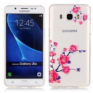 Průhledný obal na mobil Samsung Galaxy J5 (2016) - kvetoucí větvička - 1