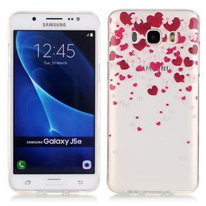 Průhledný obal na mobil Samsung Galaxy J5 (2016) - srdčíka - 1