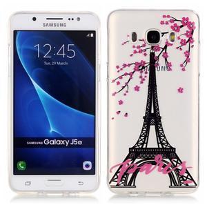 Průhledný obal na mobil Samsung Galaxy J5 (2016) - Eiffelova věž - 1