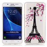 Průhledný obal na mobil Samsung Galaxy J5 (2016) - Eiffelova věž - 1/4