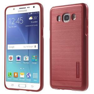 Gelový obal s plastovou výstuhou na Samsung Galaxy J5 (2016) - červený - 1