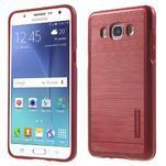 Gelový obal s plastovou výstuhou na Samsung Galaxy J5 (2016) - červený - 1/7