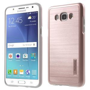 Gelový obal s plastovou výstuhou na Samsung Galaxy J5 (2016) - růžový - 1