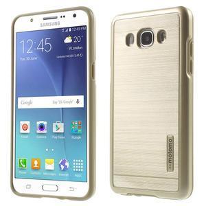 Gelový obal s plastovou výstuhou na Samsung Galaxy J5 (2016) - zlatý - 1