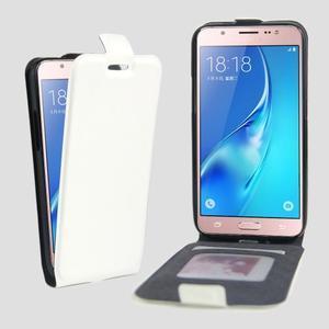 Flipové pouzdro na mobil Samsung Galaxy J5 (2016) - bílé - 1