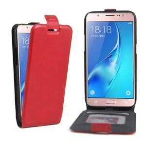 Flipové pouzdro na mobil Samsung Galaxy J5 (2016) - červené - 1