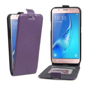 Flipové pouzdro na mobil Samsung Galaxy J5 (2016) - fialové - 1