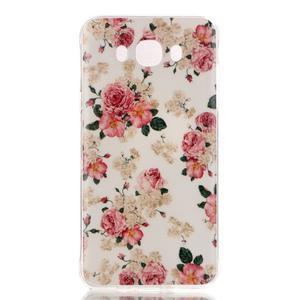 Softy gelový obal na mobil Samsung Galaxy J5 (2016) - květiny - 1