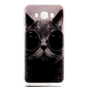 Softy gelový obal na mobil Samsung Galaxy J5 (2016) - kocour - 1