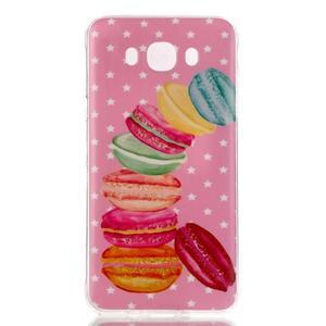 Softy gelový obal na mobil Samsung Galaxy J5 (2016) - makrónky - 1
