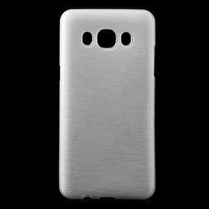 Brushed gelový obal na mobil Samsung Galaxy J5 (2016) - bílý - 1