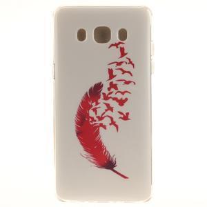 Gelový obal na mobil Samsung Galaxy J5 (2016) - peříčko - 1