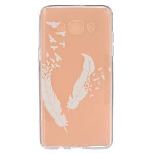Transparentní gelový obal na Samsung Galaxy J5 (2016) - ptačí peříčka - 1