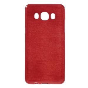 Brushed gelový obal na mobil Samsung Galaxy J5 (2016) - červený - 1