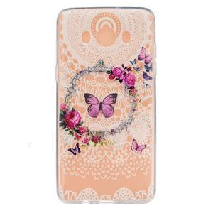 Transparentní gelový obal na Samsung Galaxy J5 (2016) - motýlci - 1
