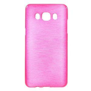 Brushed gelový obal na mobil Samsung Galaxy J5 (2016) - rose - 1