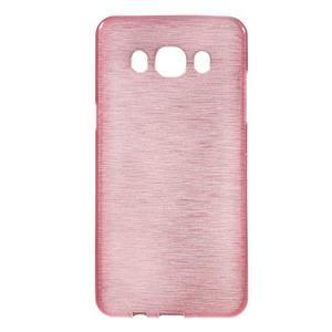 Brushed gelový obal na mobil Samsung Galaxy J5 (2016) - růžový - 1