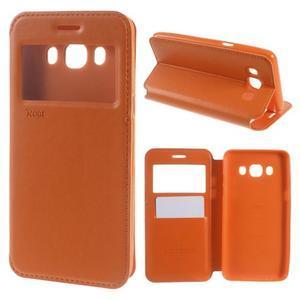 Royal pouzdro s okýnkem na Samsung Galaxy J5 (2016) - oranžové - 1