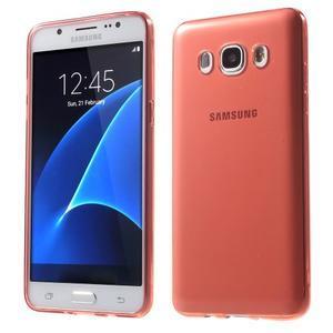 Ultratenký slim gelový obal na Samsung Galaxy J5 (2016) - červený - 1
