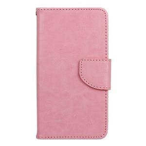 Wall PU kožené pouzdro na Samsung Galaxy J5 (2016) - růžové - 1