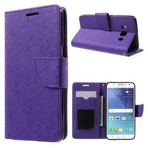 Routy PU kožené pouzdro na Samsung Galaxy J5 (2016) - fialové - 1