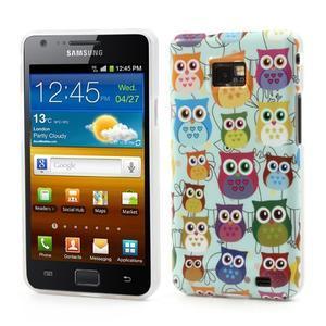 Softy gelový obal na mobil Samsung Galaxy S2 - sovičky - 1