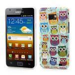 Softy gelový obal na mobil Samsung Galaxy S2 - sovičky - 1/5