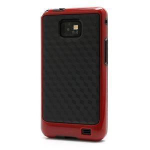 Cube odolný obal na mobil Samsung Galaxy S2 - červený - 1
