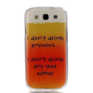 Gelový obal na mobil Samsung Galaxy S3 - drink - 1