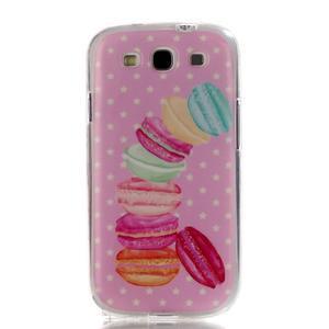Gelový obal na mobil Samsung Galaxy S3 - makrónky - 1