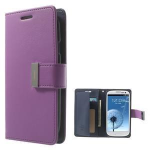 RichDiary PU kožené pouzdro na Samsung Galaxy S3 - fialové - 1