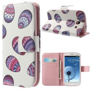 Funy pouzdro na mobil Samsung Galaxy S3 - malovaná vajíčka - 1