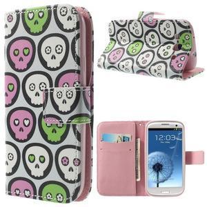 Funy pouzdro na mobil Samsung Galaxy S3 - lebky - 1