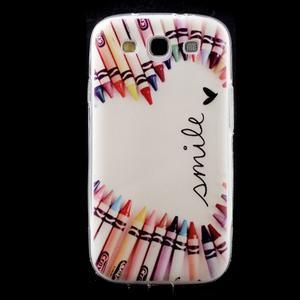 Ultratenký gelový obal na mobil Samsung Galaxy S3 - smile - 1