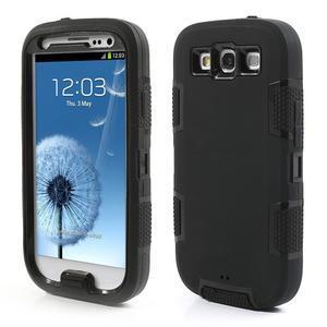Odolné silikonové pouzdro na mobil Samsung Galaxy S3 - černé - 1