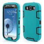 Odolné silikonové pouzdro na mobil Samsung Galaxy S3 - modré/černé - 1/6