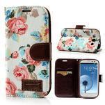 Květinové pouzdro na mobil Samsung Galaxy S3 - bílé poazdí - 1/7