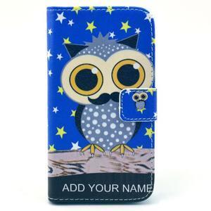 Pictu pouzdro na mobil Samsung Galaxy S3 - sova s vousem - 1