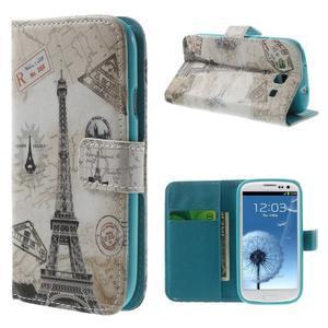 Knížečkové pouzdro na Samsung Galaxy S3 - Eiffelova věž - 1