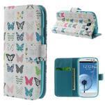 Knížečkové pouzdro na Samsung Galaxy S3 - motýlci - 1/7