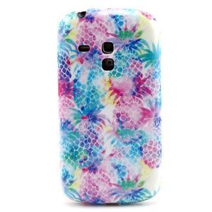 Gelový obal na mobil Samsung Galaxy S3 mini - barevné ananasy - 1