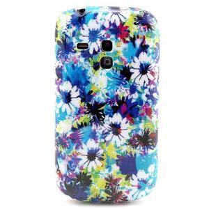 Gelový obal na mobil Samsung Galaxy S3 mini - barevné květiny - 1