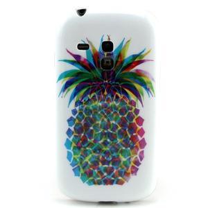 Gelový obal na mobil Samsung Galaxy S3 mini - barevní ananas - 1