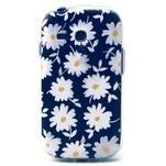 Gloss gelový kryt na Samsung Galaxy S3 mini - sedmikrásky (černé pozadí) - 1/4